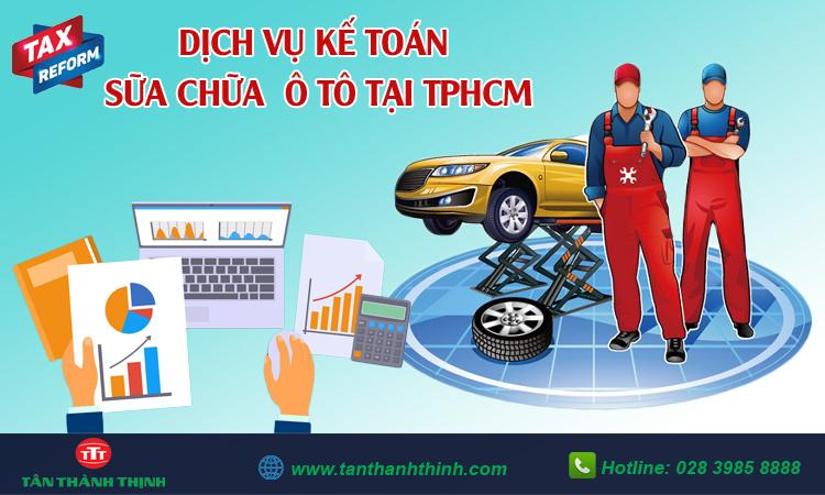 Kế toán dịch vụ sửa chữa ô tô