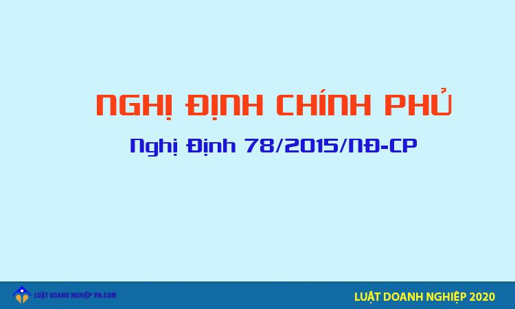 Nghị Định 78/2015/NĐ-CP