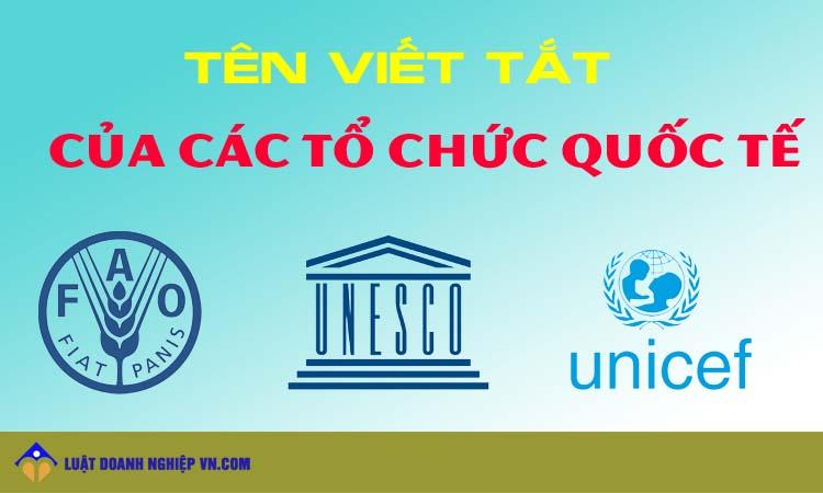 Tên viết tắt của các tổ chức Quốc tế